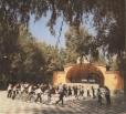 В городском парке приступили к закладке фундамента под ротонду и строительству площадки под центральный фонтан